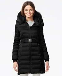 Dkny Quilted Down Puffer Parka Jacket Black