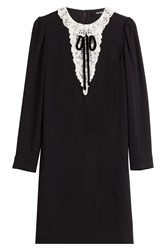The Kooples Dress With Lace Collar Black