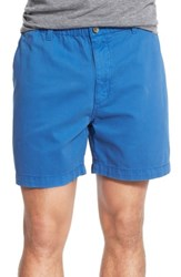 Vintage 1946 'Snappers' Washed Elastic Waistband Shorts Prep Blue