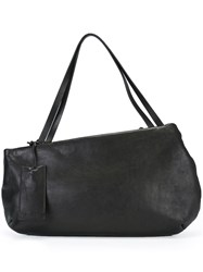 Marsell Asymmetric Large Shoulder Bag Black