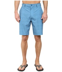 Rvca Benefits Hybrid Acid Wash Blue Men's Shorts