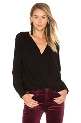 Maven West Katy Surplice Blouse Black