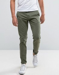 Only And Sons Skinny Fit Chinos In Khaki Kalamata Green