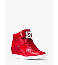 Nikko Mixed Media High Top Sneaker Crimson