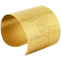 Designhype Nyc Metro Gold Cuff Bracelet And Chrysler Building Necklace Gift Set