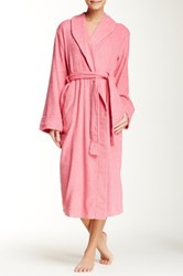 Casual Moments Terry Shawl Collar Wrap Pink
