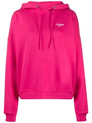 Closed Embroidered Logo Hoodie Pink