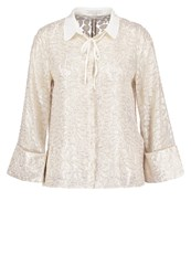 Mintandberry Organza Leaf Shirt White Alyssum