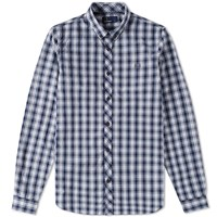 Fred Perry Summer Tartan Shirt Blue