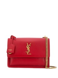Saint Laurent Sunset Cross Body Bag Red