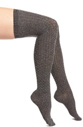 Women's Vince Camuto Textured Over The Knee Socks Grey Mgh