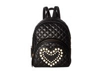 Boutique Moschino Mini Pearl Backpack Black Backpack Bags