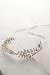 Anthropologie Gold Leaf Headband