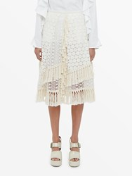 See By Chloe Knee Length Knitted Skirt Neutral