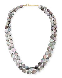 Dina Mackney Black Mother Of Pearl Double Strand Necklace