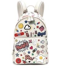 Anya Hindmarch All Over Wink Mini Leather Backpack White