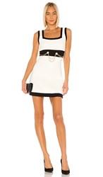 Torn By Ronny Kobo Anamaree Dress In Ivory Black. Black And White
