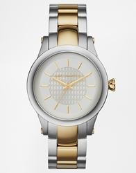 Karl Lagerfeld Slim Chain Gold Detail Watch Kl1222