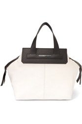 Mcq By Alexander Mcqueen Two Tone Leather Tote Black