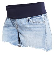 Denim Shorts Light Wash Indigo Moon Washed