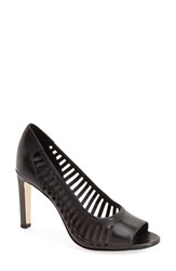 Women's Elie Tahari 'Harbor' Open Toe Pump 3 1 2' Heel