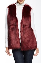 Romeo And Juliet Couture Faux Fur Vest Red