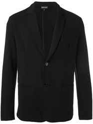 Emporio Armani Button Up Blazer Black