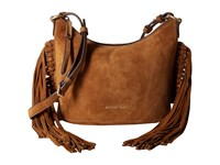 Michael Michael Kors Billy Md Fringe Msgr Dark Caramel Messenger Bags Brown