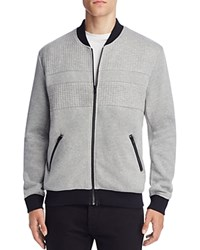 Nana Judy Maverick Quilted Fleece Bomber Jacket Grey Marl Black