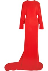 Stella Mccartney Cutout Cady Gown Red
