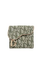 Wgaca What Goes Around Comes Around Dior Green Trotter Saddle Wallet
