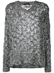 Roberto Collina Knitted Top Blue