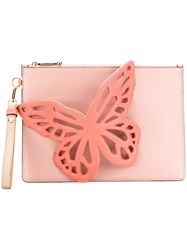 Sophia Webster Butterfly Design Clutch Pink And Purple