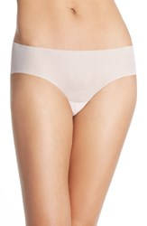 Women's Halogen 'No Show' Mesh Hipster Briefs Pink Veil Rose