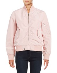French Connection Zip Front Bomber Jacket Pink