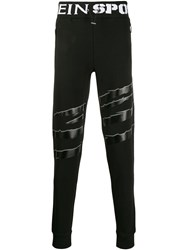 Plein Sport Scratch Track Pants Black