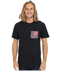 Hurley Floral Pocket Tee Black Men's T Shirt