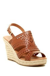 Rampage Ram Harper Laser Cut Wedge Sandal Brown