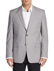 Versace Regular Fit Cotton Twill Sportcoat Silver