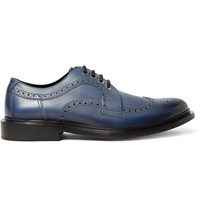 Jimmy Choo Alec Leather Brogues Blue