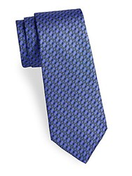 Saks Fifth Avenue Made In Italy Chain Link Silk Tie Purple
