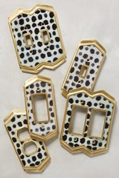 Anthropologie Dotted Ames Switch Plate Ivory