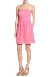Women's Vineyard Vines Fish Embroidered Cotton Strapless Dress