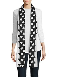 Moschino Cheap And Chic Wool Blend Scarf Black White