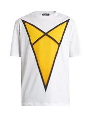 Raf Simons American Fit Arrow Print Cotton T Shirt White Multi