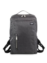 Jack Spade Tech Oxford Slub Textured Backpack Charcoal