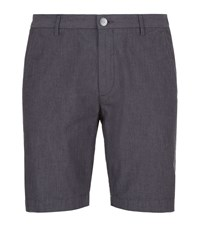 Boss Rice3 W Slim Fit Chambray Shorts Male Grey