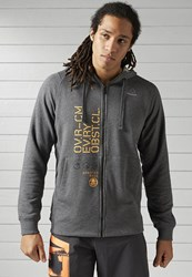Reebok Spartan Race Tracksuit Top Dark Grey Heather