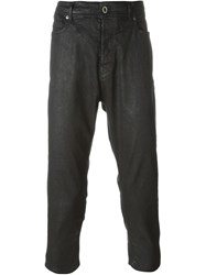 Diesel Black Gold Waxed Cropped Trousers