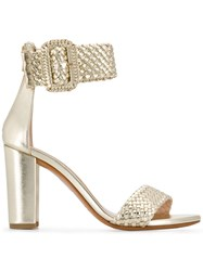 Albano Ankle Strap Sandals Gold